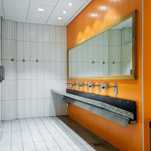 upscale commercial pulbic restroom
