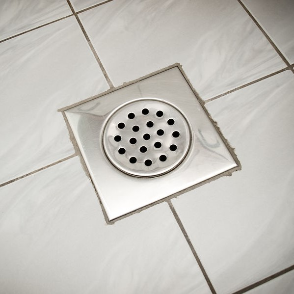 recently cleaned drain